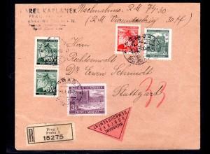 B&M., R-Nachnahmebrief mit Mi.-Nr. 33ua., Ak-St.