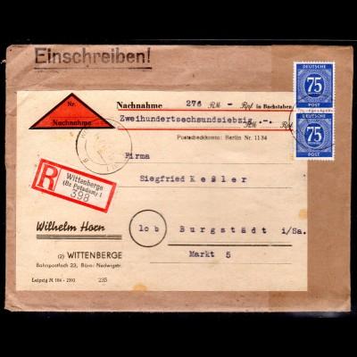 Gemeinschaft-Ausgaben Mi.-Nr. 934 MeF als R-NN-Brief.