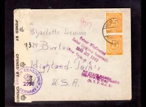 Gemeinschaft-Ausgaben Mi.-Nr. 927 MeF als Ausland-Brief, zensiert.