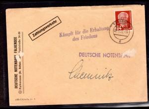 """DDR., Losungsstempel """"Kämpft für die Erhaltung des Friedens"""""""
