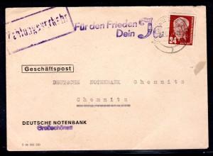 """DDR., Losungsstempel """"Für den Frieden dein Ja"""""""