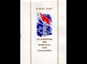 DDR-Gedenkblatt, 25. Jahrestag der Befreiung vom Faschismus