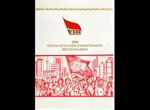 DDR-Gedenkblatt, VIII. Parteitag der SED