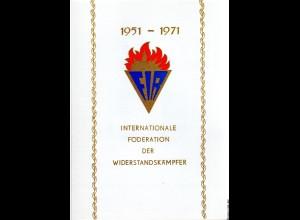 DDR-Gedenkblatt, Internationale Föderation der Widerstandskämpfer