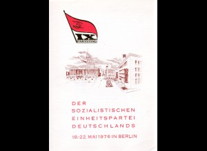 DDR-Gedenkblatt, IX Parteitag der SED, 18-22 Mai 1976 in Berlin
