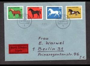 Berlin, Orts-Eilbote-Satzbrief Mi.-Nr. 326-329, mit Ak-St.