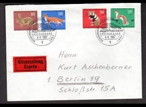 Berlin, Orts-Eilbote-Satzbrief Mi.-Nr. 299-02, mit Ak-St.
