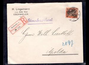 DR., EF Mi.-Nr. 74 als R-Brief mit AK-St.