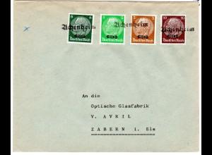 Dt. Besetzung Elsaß; Fernbrief mit Notstempel