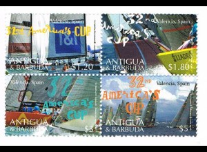 """Antigua/Barbuda Segeln """"America´Cup"""", Viererblock"""
