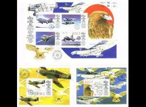 """Antigua/Barbuda """"80 Jahre Air Force"""" Kleinbogen + 2 Blocks"""