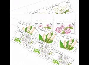 Grenada Pflanzen Satz und Block