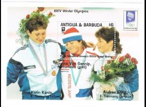 DDR-Sportlerinnen auf Olympia-Marken von Antigua&Barbuda
