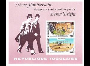 Togo: Geschichte der Luftfahrt; Satz und Block