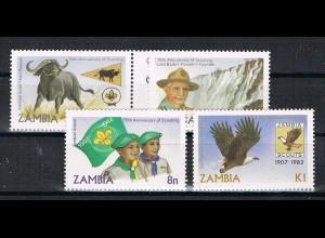 Sambia: Pfadfinder-Jubiläum; Satz und Block
