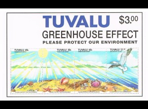 Tuvalu: Umweltschutz; Satz und Block
