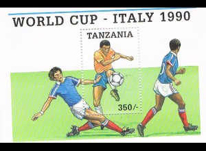Tansania: Fußball-WM Italien 1990; Satz und 2 Blocks