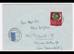 Bund, EF Briefm.-Ausst. Wuppertal 20 Pfg. auf Fernbrief