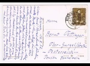 DDR: EF Gerettete Gemälde 15 Pfg. 1957 auf Auslandskarte
