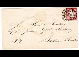 Hufeisen-St Elberfeld 12-4 auf DR-Brustschild-Brief