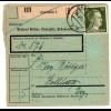 Hitler; 30 Pfg. als reine Einzelfrankatur auf Paketkarte
