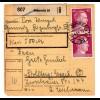 Hitler; 40 Pfg. als reine Mehrfachfrankatur auf Paketkarte