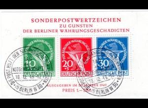 Berlin, Währungsgeschädigten-Block mit PF III, SSt., FA Schlegel