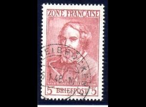 Franz. Zone; 5M Heinrich Heine, geprüft