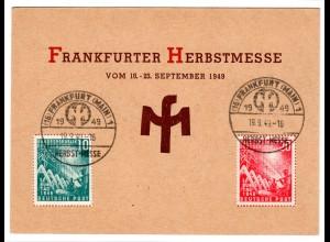 Ereigniskarte: Frankfurte Messe 1949, frankiert mit