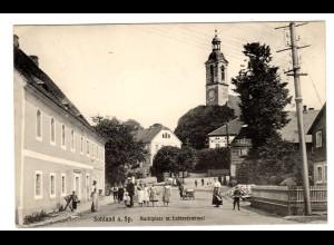 Zittau / Markplatz mit Straßenbahnen