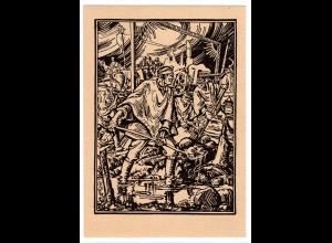 Ungelaufene Feldpostkarte mit heroischer Wehrmachts-Darstellung