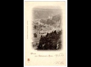 Rübeland / gel. Fotokarte Panorama