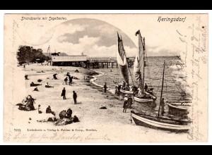 Heringsdorf / Strand mit Segelbooten