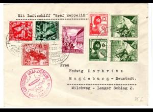 Zeppelin Fahrt in das befr. Sudetenland