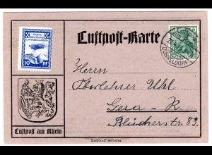 Zeppelin-Flugtage in Düsseldorf; Sonderkarte mit Nr. 9