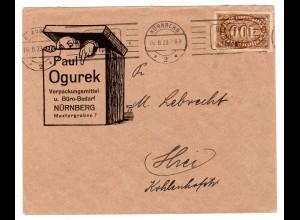 Reklameumschlag: Paul Ogurek, Verpackungen, Nürnberg