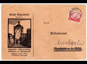Reklameumschlag: Stadt Scheinfeld