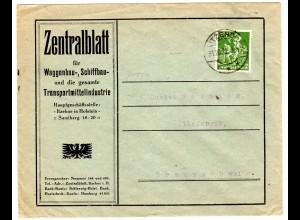 Reklameumschlag: Zentralblatt für Waggonbau...