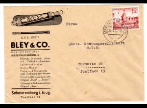 Reklameumschlag: Metallwarenfabrik Bley&Co