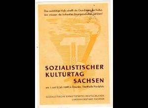Ereigniskarte: Sozialistischer Kulturtag Sachsen 1948