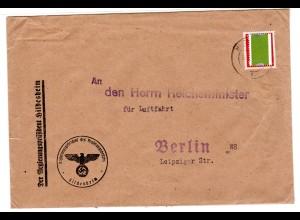 Dienstbrief an den Herrn Reichsminister für Luftfahrt