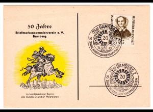"""Ereigniskarte """"50 Jahre Briefmarkenverein Bamberg"""""""