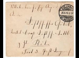 FP-Brief an den Luftschiffer Göbel, Luftschiffbattl. (1910!)