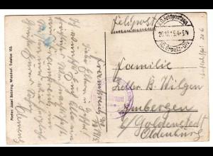 Fotokarte Luftschiffer-Abteilung Nr. 28, 1915