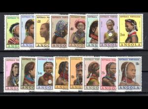 Portugiesisch-Angola: Frauen der verschiedenen Stämme