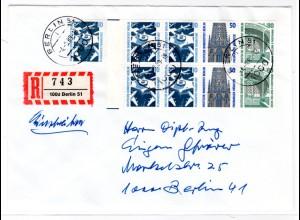 Berlin: Orts-R-Brief mit Hbl. 22