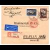 Danzig: Einschreib-Luftpostbrief von der Luposta