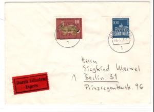 Eilbote Orts-Brief mit Mi.F. Mi.-Nr 290+ DZ! ua.als Rohpost befordert!