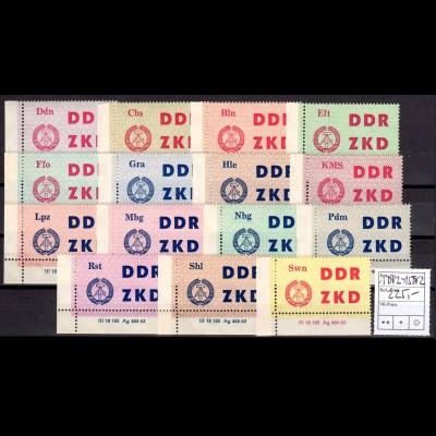 DDR, Laufkontrollzettel kompl. mit DV, postfrisch