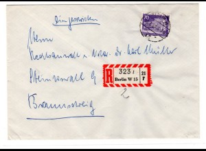 Eingeschriebener-Fern-Brief mit EF. Mi.-Nr 152